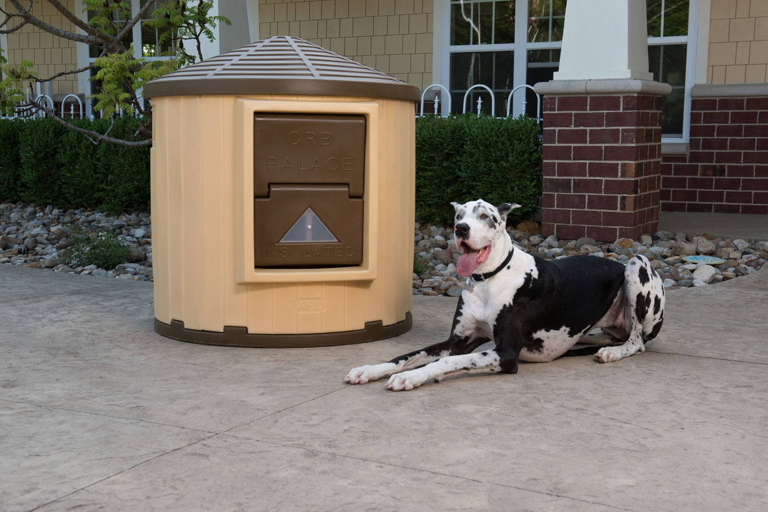 Dog Palace Insulated Doghouse - Insulated Doghouses by ASL Solutions on