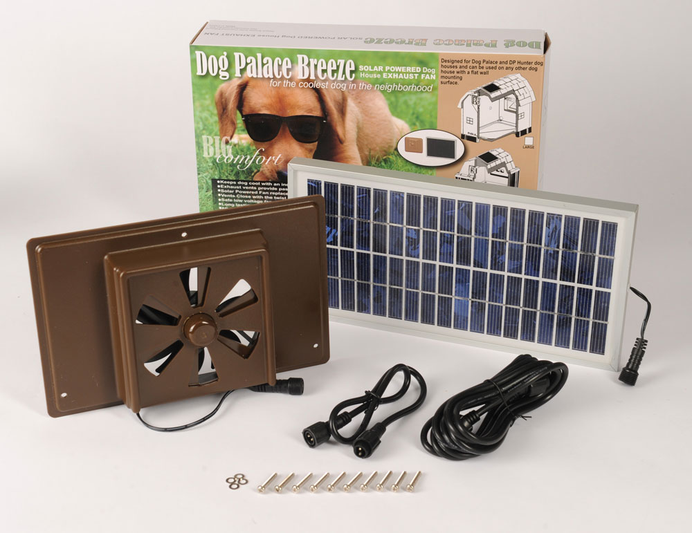 Dog Palace Dog House Solar Powered Exhaust Fan