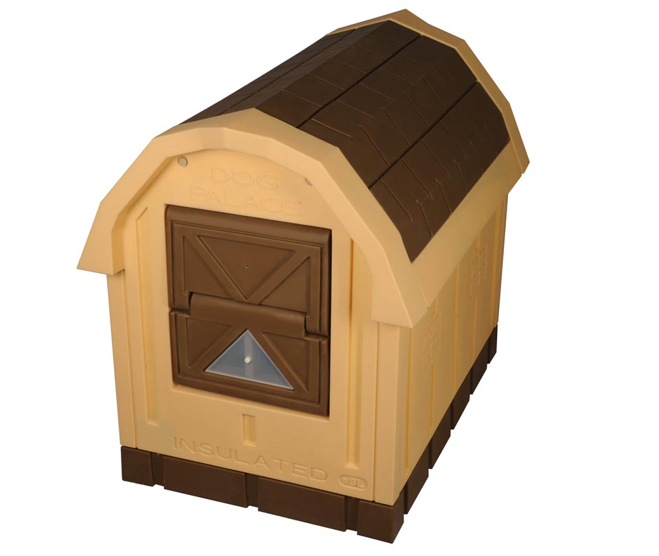 heated dog house palace insulated doghouse insulated doghouses by asl 10431