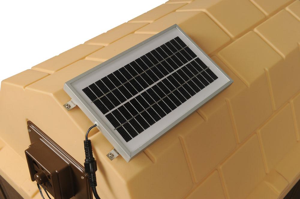 Dog House With Solar Powere